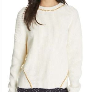 Joie Meliso Long Sleeve Chain Detail Sweater
